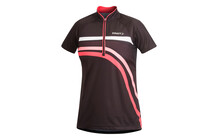 Craft Performance Bike Stripe Tee shirt femme rouge/noir